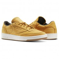 Reebok Club C 85 Shoes Mens Gold Brown/Grey BS5205