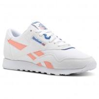 Reebok Classic Nylon Schuhe Damen Weiß/Rosa/Blau CN2966