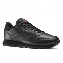 Reebok Classic Leather Shoes Womens Black 3912