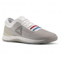 Reebok Crossfit Nano Shoes Mens White/Grey/Silver/Red CN2973