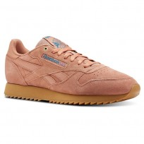 Shoes Reebok Classic Leather Mens Apricot/Turquoise CN3871