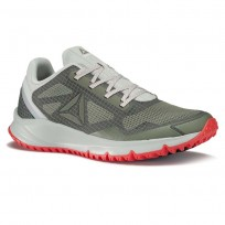 Reebok All Terrain Running Shoes Mens Green/Grey/Red/Metallic Grey BS9946