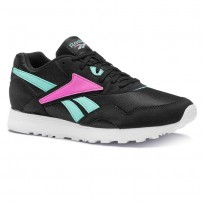 Reebok Rapide Og Su Shoes Mens Black/Turquoise/Pink/White CN6003
