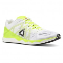 Reebok Floatride Run Running Shoes Mens White/Yellow/Black/Grey CN7006