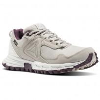 Reebok Sawcut Walking Shoes Womens Beige/Blue/Grey/Wash Purple BS8078