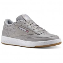 Reebok Club C 85 Shoes Mens Grey/White/Wash Blue CM8794