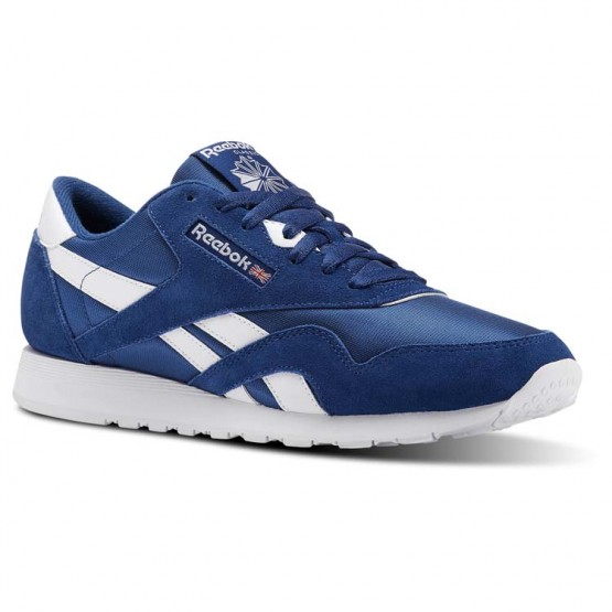 Reebok Classic Nylon Shoes Mens Blue/White CN3267