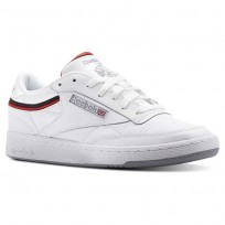 Reebok Club C 85 Shoes Mens White/Navy/Red CN3761