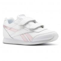 Reebok Royal Classic Jogger Shoes Girls White/Pink/Silver CN4798