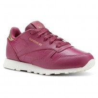 Reebok Classic Leather Shoes Girls Deep Red CN5566