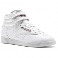 Reebok Freestyle Hi Schuhe Damen Weiß/DunkelGrau/Rot/Grau CN0796