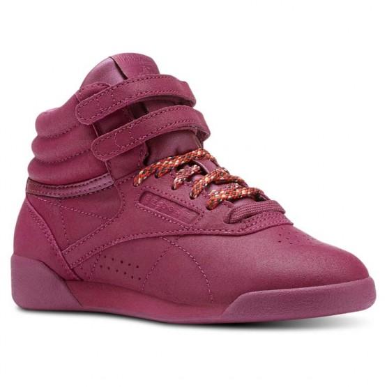 Zapatillas Reebok Freestyle Hi Niña Blancas CN5550