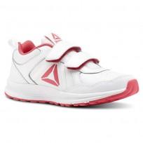 Reebok Almotio 4.0 Running Shoes Girls White/Pink/Silver CN4234
