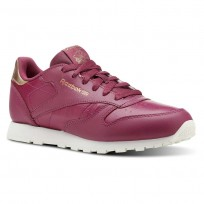 Reebok Classic Leather Shoes Girls Deep Red CN5564