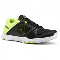 Reebok Yourflex Train 10 Training Shoes Mens Black/Yellow/White CN4728