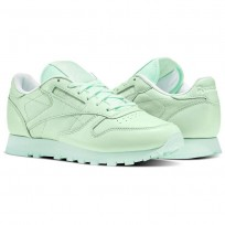Reebok X Spirit Classic Leather Shoes Womens Mint Green/White BD2773