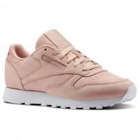 Reebok Classic Leather Shoes Womens Rose/White CN1504