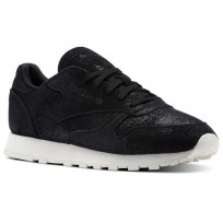 Reebok Classic Leather Shoes Womens Black BS9856