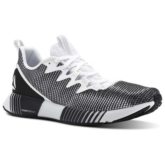 Reebok Fusion Flexweave Running Shoes Mens White/Grey/Black CN4713