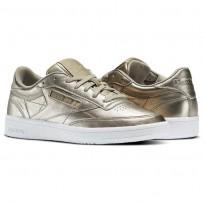Reebok Club C 85 Schuhe Damen Gold/Grau Gold/Weiß BS7901
