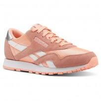 Reebok Classic Nylon Schuhe Mädchen Rosa/Weiß/Silber CN5112