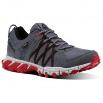 Reebok Trailgrip Walking Shoes Mens Grey/Red/Black CN0831