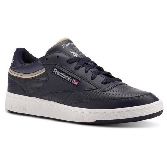 Shoes Reebok Club C 85 Mens Navy/Grey CN3762