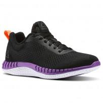 Reebok Print Running Shoes Womens Black/Purple BS8592