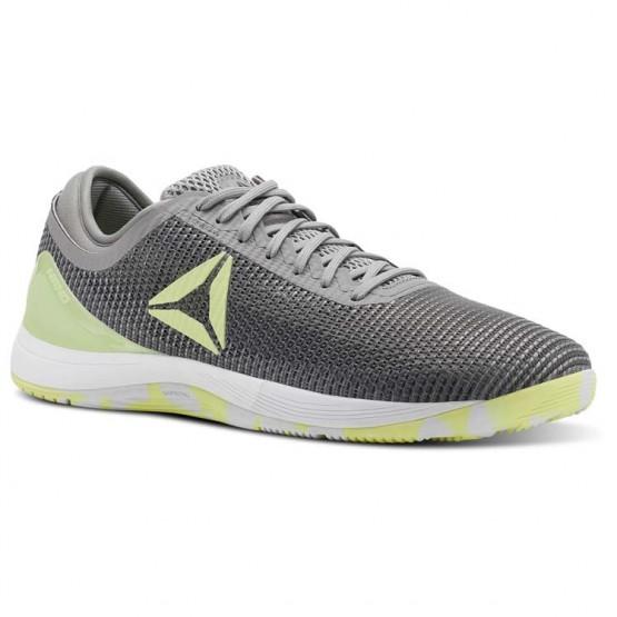 Reebok Crossfit Nano Shoes Mens Grey/Lemon/Grey/White CN2975