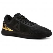 Reebok Crossfit Nano Shoes Mens Black/Gold CN7063