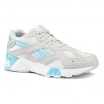 Reebok Aztrek Shoes Mens Grey/White/Blue CN7473