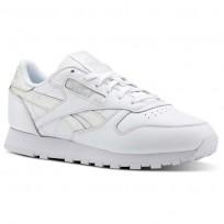 Reebok Classic Leather Schuhe Damen Weiß Streifen/Grau CN4021