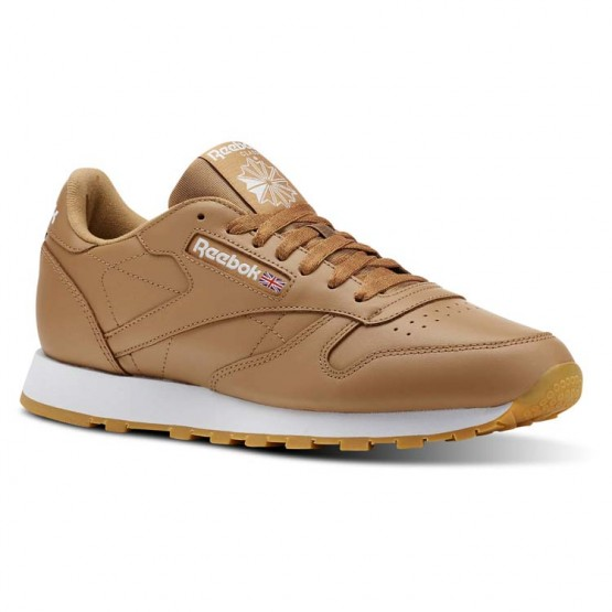 Reebok Classic Leather Shoes Mens Brown/White CN5768