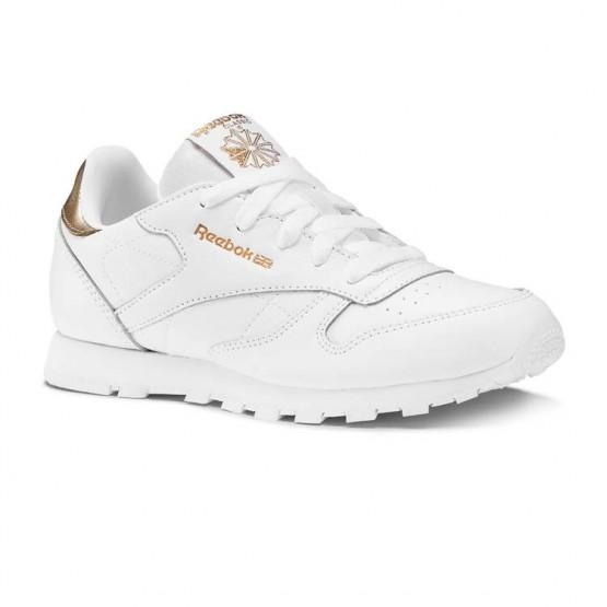Reebok Classic Leather Shoes Girls White DV3617