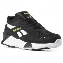Reebok Aztrek Shoes Mens Black/White/Yellow CN7188