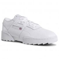 Reebok Workout Ripple Og Shoes Mens White/Grey/Red DV5326