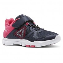 Reebok Yourflex Train 10 Training Shoes Girls Navy/Pink/White CN5670