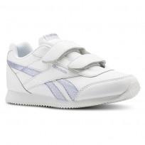 Reebok Royal Classic Jogger Shoes Girls White/Silver CN4777