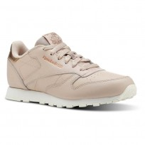 Reebok Classic Leather Shoes Girls Beige CN5560