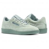 Reebok Club C 85 Shoes Womens Green/Grey/White BS6528
