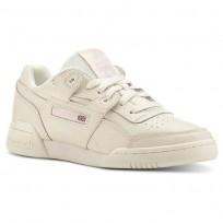 Reebok Workout Plus Shoes Womens White/Pink CN4610