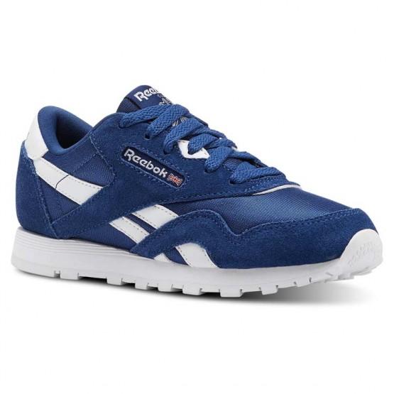 Reebok Classic Nylon Schuhe Kinder Blau/Weiß CN5026