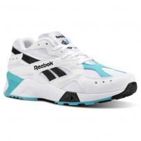 Reebok Aztrek Shoes Mens White/Turquoise/Black CN7067