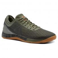 Reebok Crossfit Nano Shoes Mens Green/Khaki/Light Orange CN1038