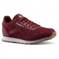 Shoes Reebok Classic Leather Boys Burgundy/White CN1134