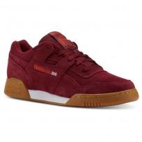 Reebok Workout Plus Shoes Mens Burgundy/White CN5196