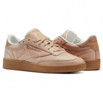 Reebok Club C 85 Shoes Womens Beige/Brown BS6370
