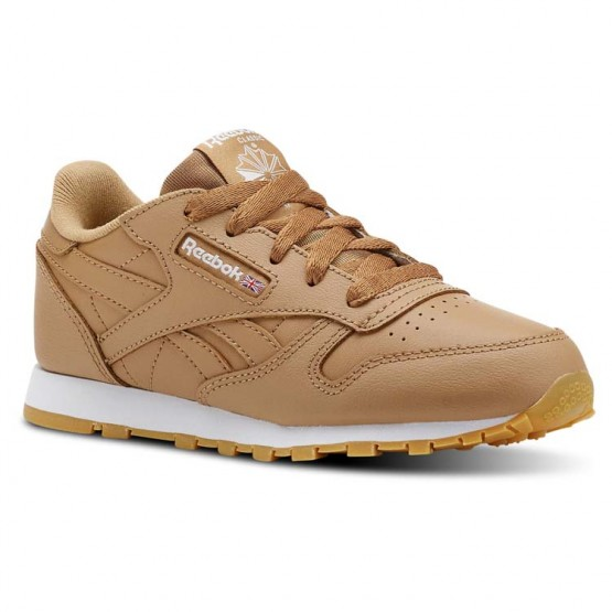 Shoes Reebok Classic Leather Kids Brown/White CN5611