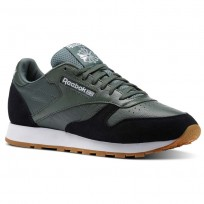 Shoes Reebok Classic Leather Mens Green/Black/White BS9746