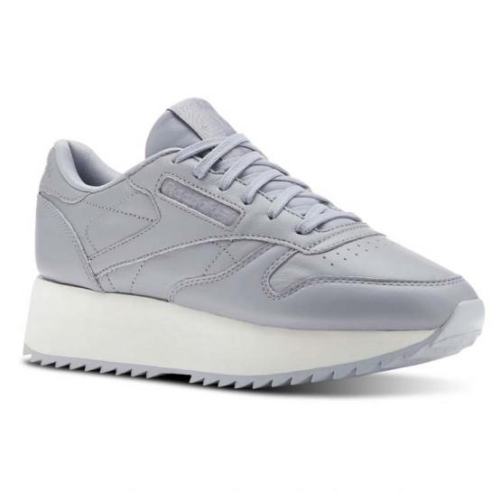 Reebok Classic Leather Schuhe Damen Grau CN5490